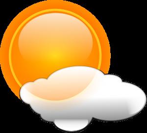 Markvärme använder sig av solenergi. Den produceras även när det är molnigt.